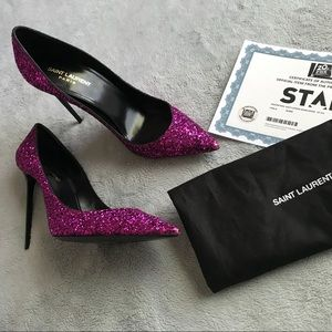 Saint Laurent Zoe Glitter Pumps Screen Worn Star